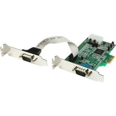 StarTech.com 2 Port Low Profile Native RS232 PCI Express Serial Card with 16550 UART - PCIe