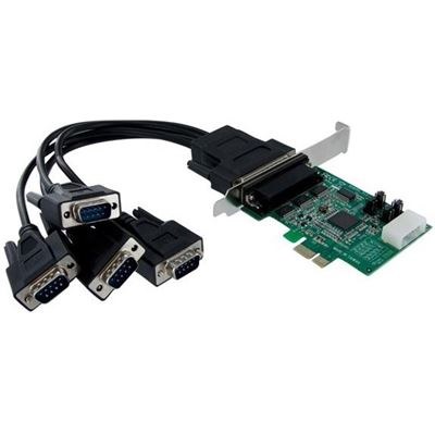 StarTech.com 4 Port Native PCI Express RS232 Serial Adapter Card with 16950 UART - PCIe
