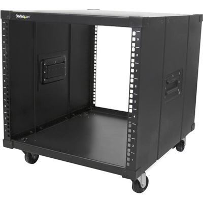 StarTech.com Portable Server Rack with Handles - Rolling Cabinet - 9U - Store your servers