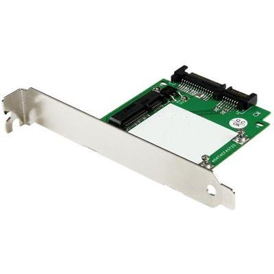 StarTech.com SATA to mSATA SSD Adapter w/ Full and Low Profile Brackets - 2.5 SATA to Mini