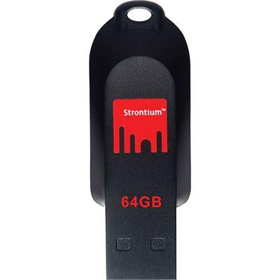 Strontium Technology 64GB Pollex USB 2.0 Flash Drive (SR64GRDPOLLEX)