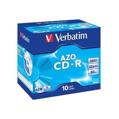 Verbatim CD-R 10pk Jewel Case - 52x 700mb/80min P-Cyanine