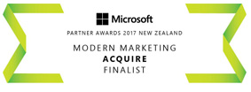 Microsoft Partner Awards 2017 - Modern Marketing Finalist - Acquire